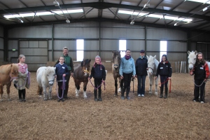 The first group of the Cavan Pony club with Connected Horsemanship founder Laura Domenica and associate trainee Dawn ward